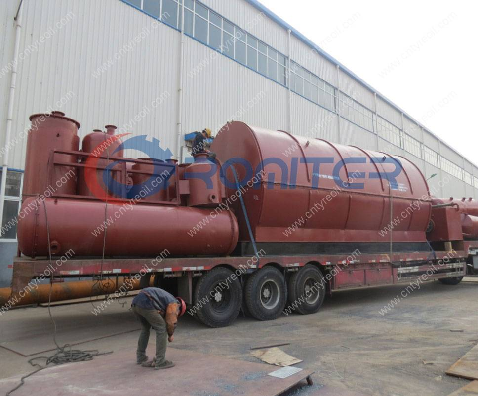 12Ton Waste Tyre Pyrolysis to Oil Plant