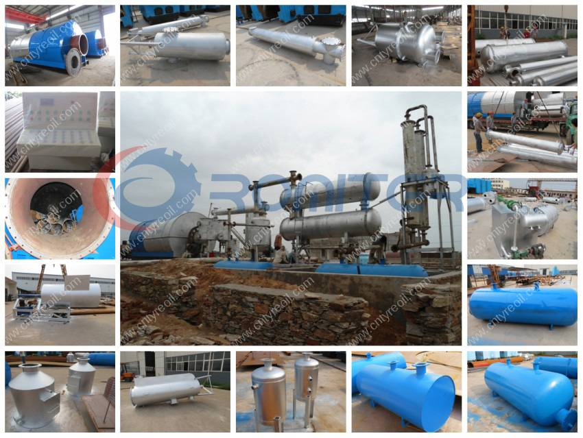 5th Generation Waste Tire Pyrolysis to Oil Machine