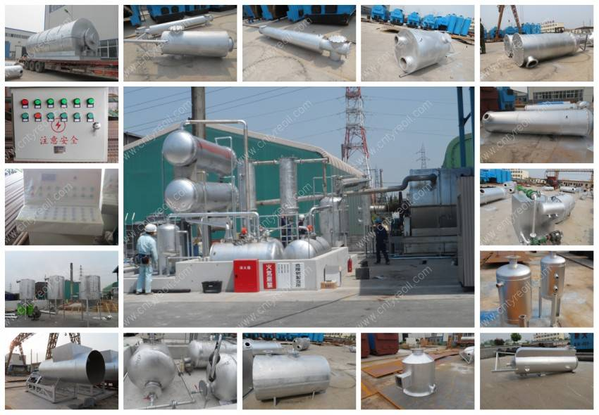 6th Generation Waste Tyre Pyrolysis Recycling to Oil Plant