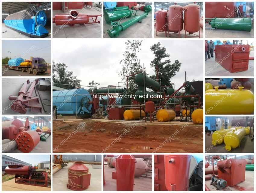 7th Generation Waste Tyre Pyrolysis to Oil Plant