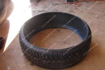 Tyre cutting machine enables recycling of old tyres into agricultural products 2
