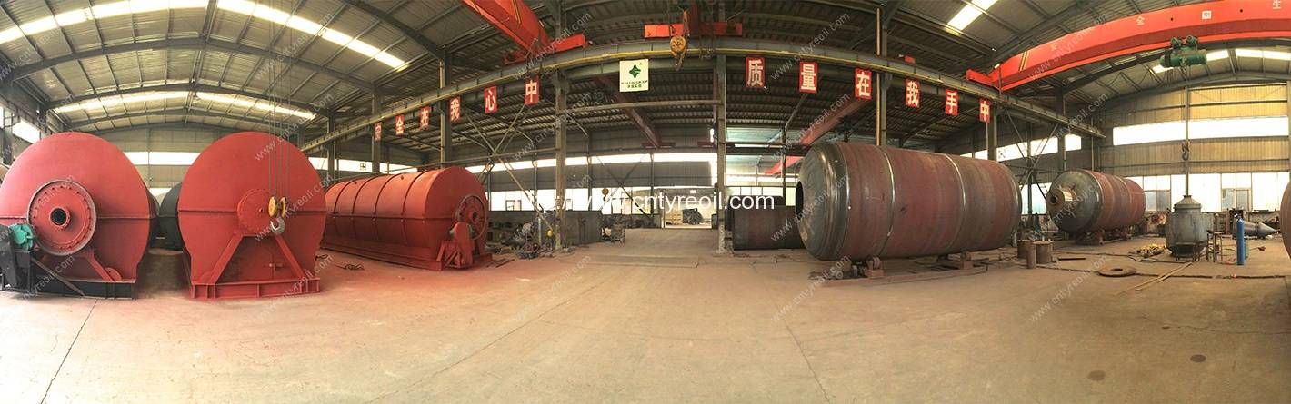 waste tyre pyrolysis recycling to oil plant