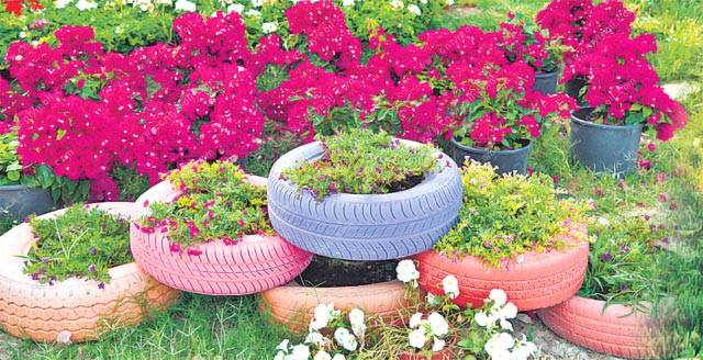 5 funky DIY tips to recycle old tyres 4