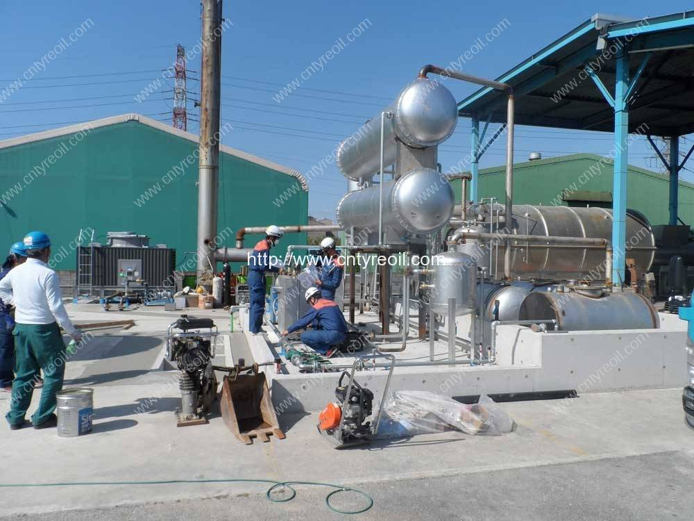 Waste Tyre Recycling To Diesel Oil Plant In Japan Waste