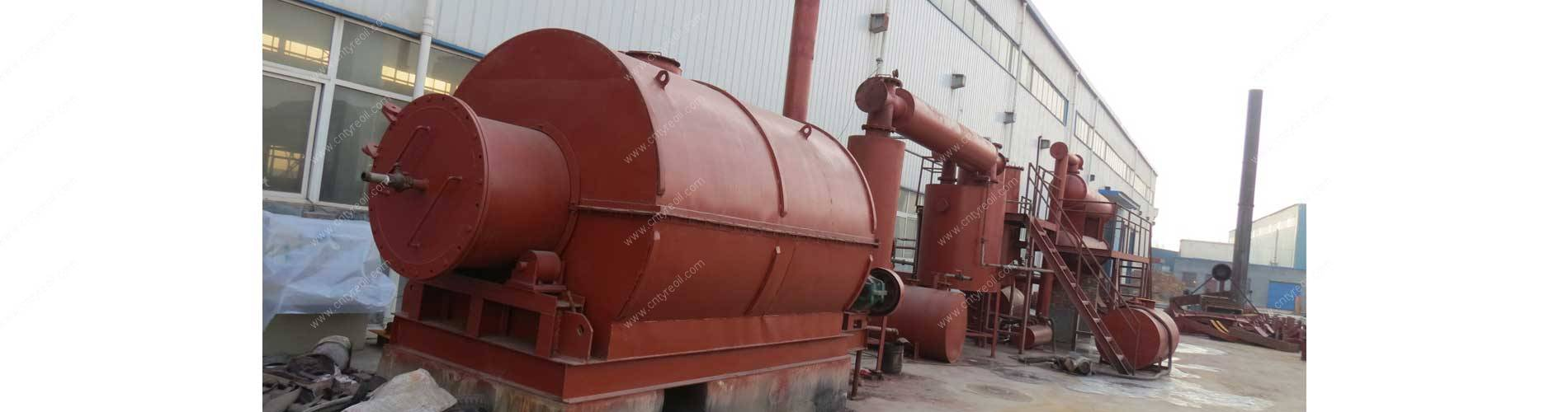 Waste Tyre Pyrolysis Recycling to Diesel Oil Plant