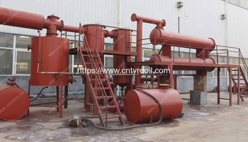 Waste Tyre&Waste Plastic Pyrolysis to Diesel Oil Plant
